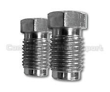"""3/8 X 24 UNF pi Long Shoulder Imperial Brake Pipe Fittings Unions 7/16"""" Pipe"""