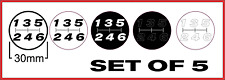 6 speed gear knob shifter decal sticker manual badge defect h pattern