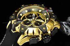 Invicta Men's 52mm Reserve VENOM Viper Swiss Chrono Gold Black Strap Watch