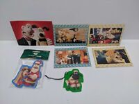 Vintage Wallace & Gromit Gift Tags 4 x Mini Puzzles and a Postcard - New
