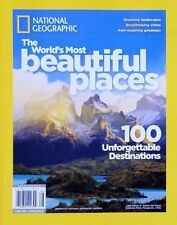 NATIONAL GEOGRAPHIC MAGAZINE THE WORLD'S MOST BEAUTIFULL PLACES FREE SHIPPING...