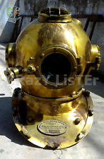 Antique Diving Divers Solid Steel Helmet Mark V US Navy Vintage Diver Handmade
