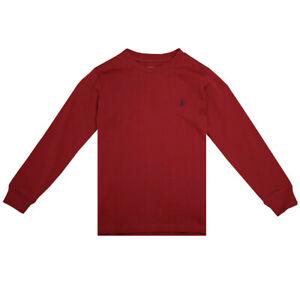 Polo Ralph Lauren Kid's Wine Red Classic Round Neck L/S T-Shirt