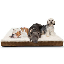Orthopedic Dog Bed Pet Lounger Deluxe Cushion for Crate Foam Soft - Large
