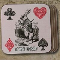 Alice in Wonderland Coaster Set, Set of 4 Coasters, Alice in Wonderland Gift.