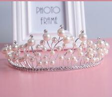 De Lujo Pearl Tiara De Novia Corona Cristal Strass Diadema Bridal los