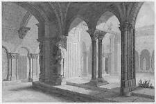 CLOÎTRE CATHÉDRALE SAINT-TROPHIME D´ARLES KREUZGANG KATHEDRALE GRAVURE 1847