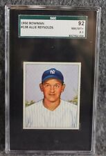 Vintage Baseball Card 1950 Bowman SGC 92 NM/MT+ 8.5 Allie Reynolds Only 6 Higher