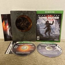 Rise & Shadow of the Tomb Raider (Steelbook) Xbox One Game Lot Set Bundle Tested