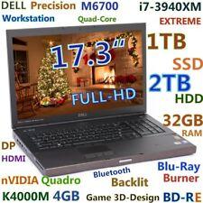 "DELL M6700 17.3"" FHD Quadro K4000M 4GB i7-3940XM (BD-RE wow! 1TB-SSD + 2TB) 32GB"