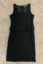 Basque Women's Black & White Dress Cocktail Evening Business Attire Size 14