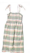 Gap green pink plaid stretch Summer dress XS