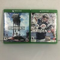 Lot of 2 Microsoft Xbox One Games | Madden 17 & Star Wars Battlefront | Used