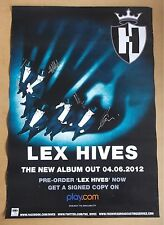 THE HIVES Lex Hives 2012 SIGNED / AUTOGRAPHED promo poster + CoA