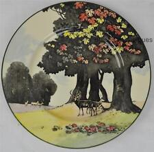 """Vintage Royal Doulton Does Under A Sycamore Tree Plate D5194 10 1/2"""" 1936"""