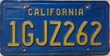 GENUINE American California Blue USA License Number Plate 1GJZ262