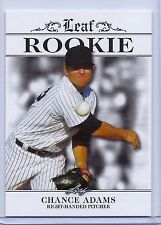 CHANCE ADAMS 2016 LEAF ROOKIES EXCLUSIVE ROOKIE CARD #R-CA1! NY YANKEES!