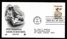 #1910  18c Red Cross 100th Anniv. - ArtCraft/PCS  FDC