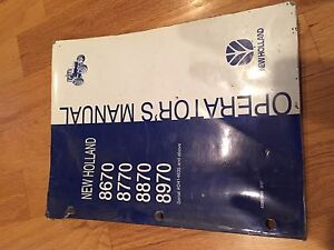 NEW HOLLAND FORD OPERATOR TRACTOR MANUAL 8670 8770 8870 8970