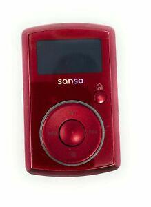 SanDisk Sansa Clip (2GB) Digital Media MP3 Player Red. Works perfect