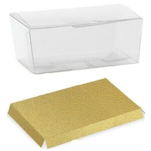 Clear Ballotin Box PVC Acetate Transparent Chocolate Sweets Cup Cake Wedding