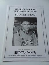 More details for dundee united fc legend maurice malpas 1991 testimonial hand signed menu by 16