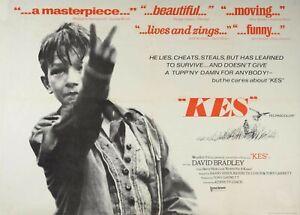 "KES -1969 UK repro Quad poster 30x40"" FREE P&P COLIN WELLAND Ken Loach"