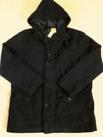 Men's Aeropostale Prince & Fox Fleece Parka Size XL Dark Navy - New With Tags