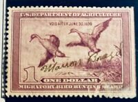 U/S. MIGRATORY BIRD HUNTING STAMP SCOTT #RW 5  Used (Signed) CV $75.00