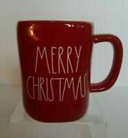 Rae Dunn MERRY CHRISTMAS Holiday Mug by Magenta Red Large Letter Farmhouse