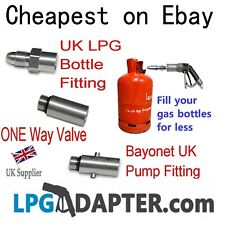 Calor Gas Bottle Refill Adaptor LPG POL to Bayonet with valve