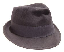 Cappello lana hat MOSCHINO mod.borsalino art.01109 T.57 col.004 blu Italy