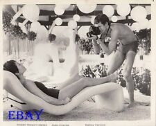 Annie Girardot Mathieu Carriere barechested VINTAGE Photo Where There's Smoke