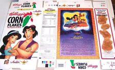 Aladdin & Jasmine Disney Shaped Flat Cereal Box 1z21