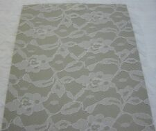 """62"""" White Lace Bridal Allover Floral Clothes Curtains Crafts Home Decor 1 yard"""