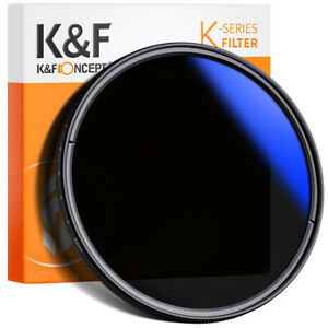 K&F Concept 72mm ND Filter Slim Variabler Graufilter ND2-400 Neutral Graufilter