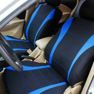 Blue Full 9pc Car Seat Covers Chair Protector Cover Auto Interior Accessories