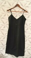 BNWT FOR WOMEN BLACK COTTON STRAPPY BELOW THE KNEE DRESS SIZE UK 10 - J2A