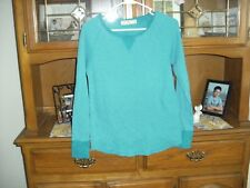 ladies used size large teens long sleeve teal top faded glory