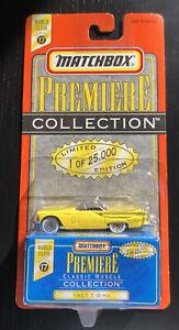 1997 MATCHBOX Premiere '57 Ford Thunderbird T-Bird Yellow  Real Riders 1957