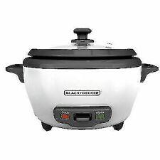 BLACK+DECKER RC506 6-Cup Rice Cooker - White