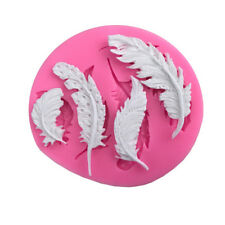 Feather silicone fondant mold cake decorating tools chocolate gumpaste mould LL