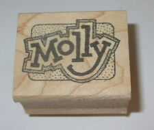 Molly Rubber Stamp Name Brand Retired People Wood Mounted