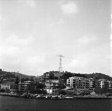 TURQUIE c. 1953 - Barques Immeubles Istanbul - Négatif 6 x 6 - Tur 54