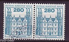 Berlín nº 676 Vandersanden. castillos & cerraduras waagrechtes par