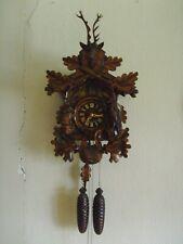 "Cuckoo Clock, 8 day German Black Forest, hunters case, very nice 19"" high EUC"