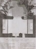 1861 Antico Stampa Plan Di The House Of The Vergine San IN Nazareth