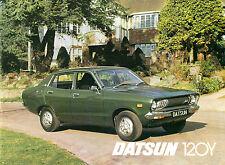 Datsun Nissan Sunny 120Y 1976-77 UK Market Brochure Saloon Coupe Estate