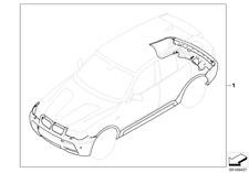 Original BMW M Sportpaket für BMW X3 E83 mit AHK Anhängerkupplung NEU