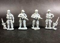 1/72 Resin US Army Modern 4 Soldiers  Unassembled Unpainted WK028